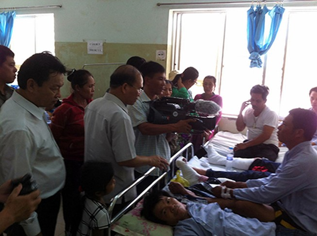 Bí thư, chủ tịch tỉnh Bình Thuận trực tiếp đến hiện trường chỉ đạo