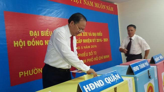 Phó Bí thư Thường trực Thành ủy TP.HCM Tất Thành Cang bầu cử