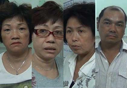 Công an quận 5 bắt giữ 4 người Trung Quốc