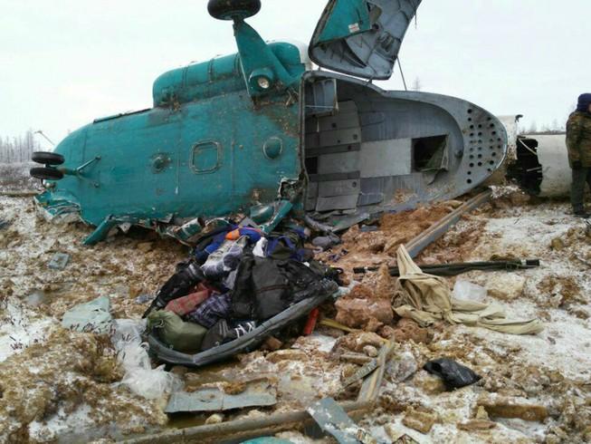 Trực thăng rơi ở Nga, 19 người thiệt mạng