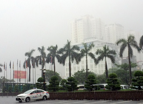Hà nội mưa to, miền Bắc có nguy cơ sạt lở, lũ quét