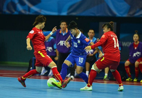 Thua Thái Lan 2-1, tuyển nữ Futsal Việt Nam bị loại