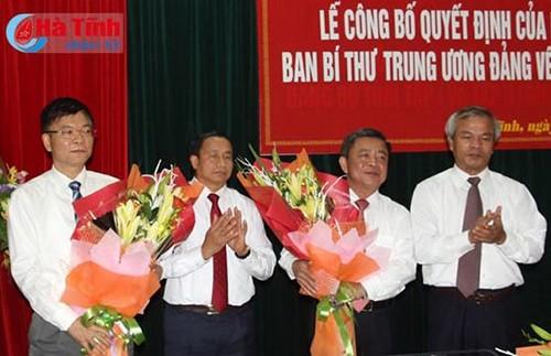 Bí thư Hà Tĩnh về làm bí thư Đảng đoàn Liên minh HTX