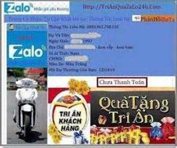 Lại mất tiền với chiêu 'Trúng thưởng qua Zalo'