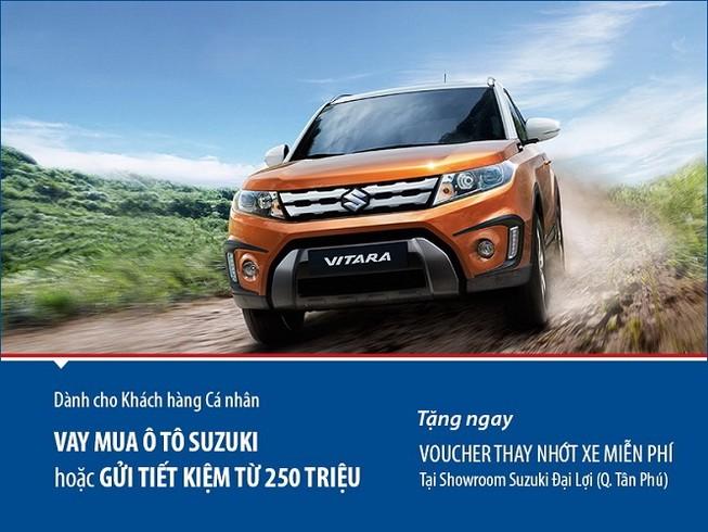 Viet Capital Bank ưu đãi khách hàng vay mua xe Suzuki