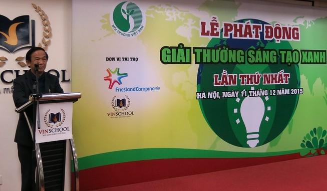 Phát động giải thưởng Sáng tạo xanh