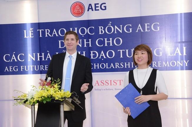 AEG trao học bổng cho nhà lãnh đạo tương lai