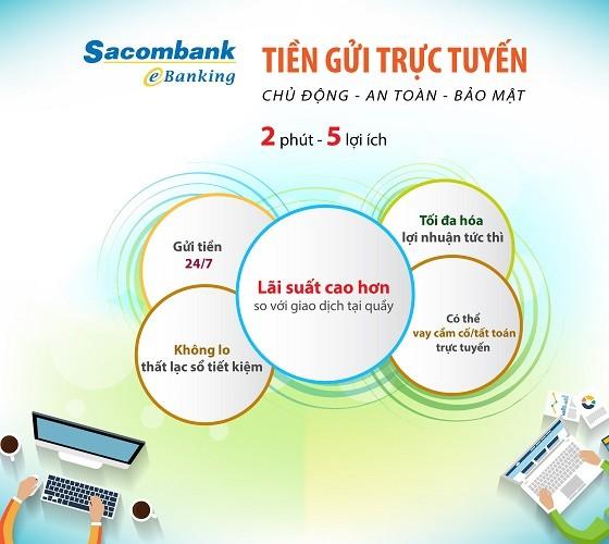 Lợi ích tối đa khi gửi tiền trực tuyến tại Sacombank