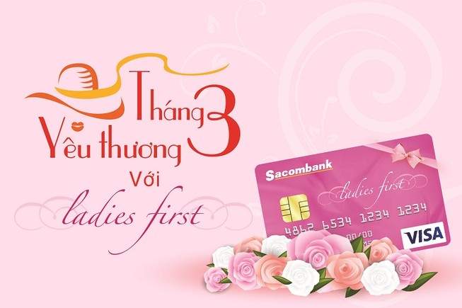 Sacombank ưu đãi suốt tháng 3 nhân ngày Quốc tế phụ nữ