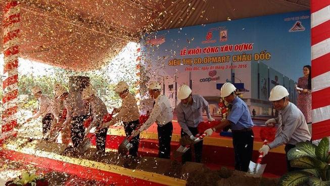 Saigon Co.op khởi công xây dựng siêu thị Co.opmart Châu Đốc