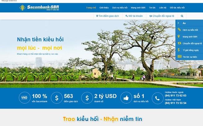 Sacombank - SBR công bố giao diện website mới