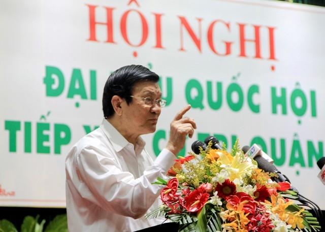 Chủ tịch nước nêu rõ phi lý của Trung Quốc biến đảo chìm thành đảo nổi