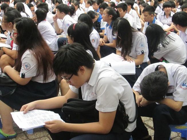 Ngày 11-6 học sinh TPHCM bắt đầu thi tuyển vào lớp 10
