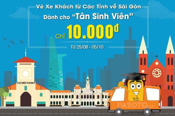 Hơn 1000 vé xe giá 10.000 đồng cho tân sinh viên nhập học tại TP.HCM