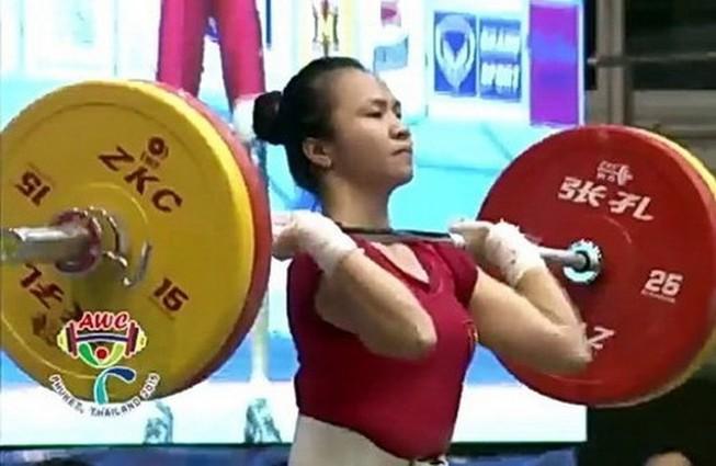 Lực sĩ Vương Thị Huyền giành 2 huy chương vàng tại giải vô địch Cử tạ châu Á