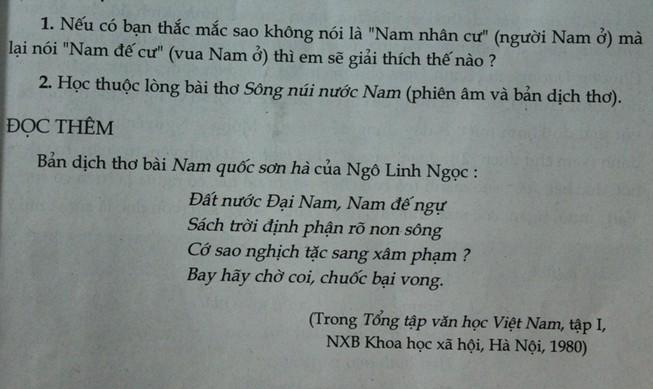 Nghe Tổng chủ biên sách Ngữ văn 7 nói về việc dịch 'Nam quốc sơn hà'
