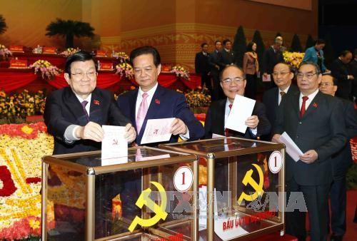 Chùm ảnh: Bầu ban chấp hành Trung ương Đảng khóa XII