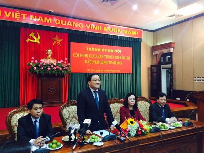 Bí thư Hoàng Trung Hải: Đề nghị báo chí 'khen cái tốt, phê cái xấu' của Thủ đô