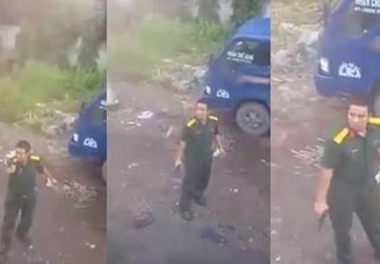 Điều tra clip quân nhân rút súng phát tán trên mạng