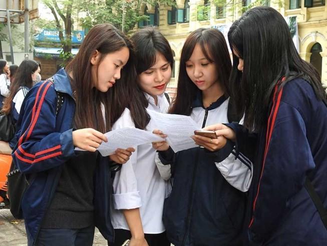 Bộ GD&ĐT công bố đề tham khảo thi THPT quốc gia 2017