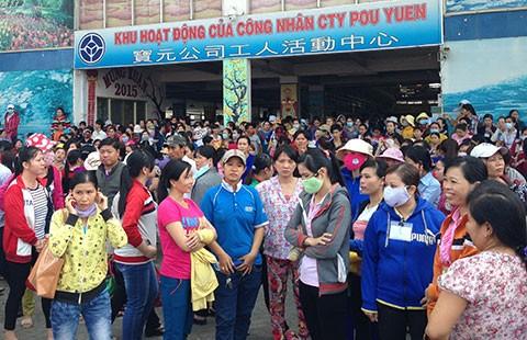 Công nhân Công ty Pou Yuen đã quay lại làm việc