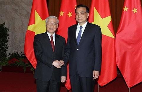 Việt Nam - Trung Quốc thúc đẩy hợp tác thực chất trên các lĩnh vực