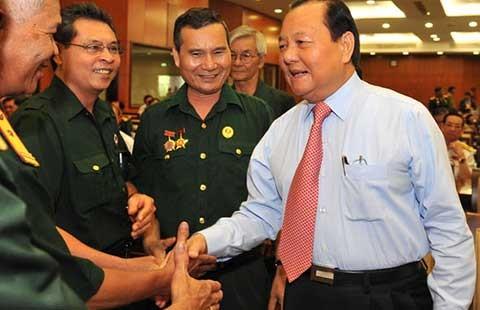 Lãnh đạo TP.HCM gặp mặt cựu chiến binh tiêu biểu