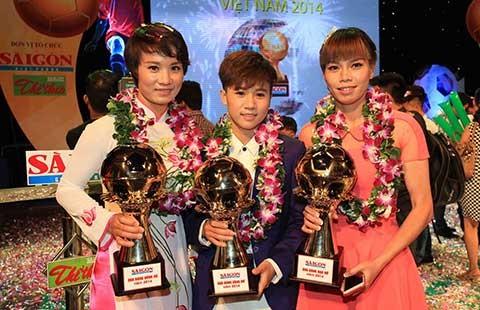 Thành Lương và Tuyết Dung đoạt Quả bóng vàng 2014