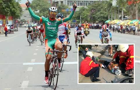 Xe đạp Cúp TH TP.HCM 2015: Nguyễn Thành Tâm lại gặp vận xui