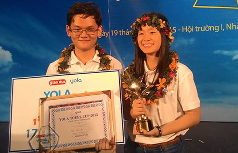 Nữ sinh trường chuyên giành quán quân cuộc thi tiếng Anh