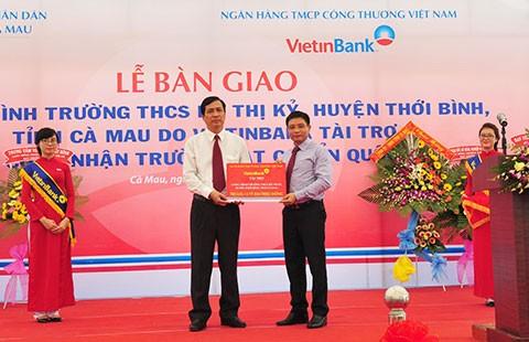 Nghĩa tình VietinBank với Cà Mau