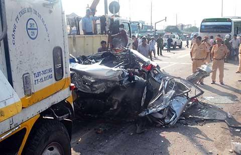Tai nạn do xe container: Tăng gần 250%