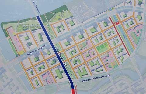 Hoàn thiện đường trục Bắc-Nam của khu đô thị mới Thủ Thiêm