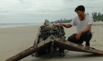 Phát hiện xác máy bay Mỹ trên biển Quảng Trị