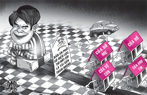 Luật phải 'trói' được tài sản tham nhũng