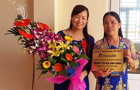 Tài trợ 400 triệu đồng cho Trường Tiểu học Ninh Giang