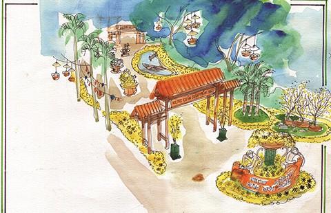 Hội chợ Hoa xuân Phú Mỹ Hưng 2016: 'Về làng'