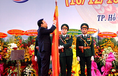 Lực lượng vũ trang Quân khu 7 đón nhận huân chương Quân công hạng Nhất