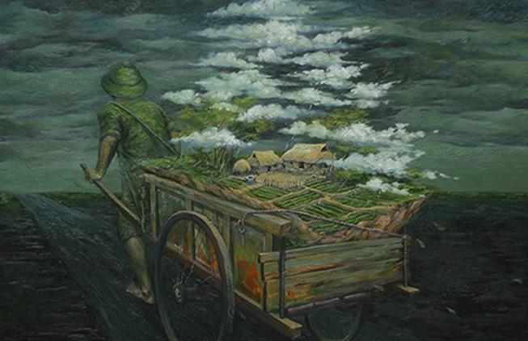 Triển lãm tranh 'Hi vọng' của họa sĩ Phạm Huy Thông