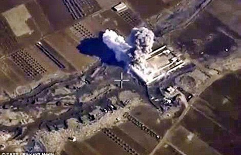 Chưa rõ máy bay nào ném bom quân đội Syria