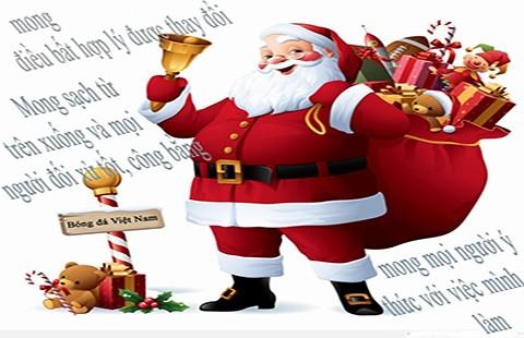 Bóng đá Việt Nam mong 'quà' ông Noel