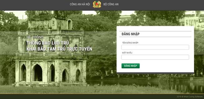 Hà Nội khánh thành hệ thống đăng ký lưu trú trực tuyến