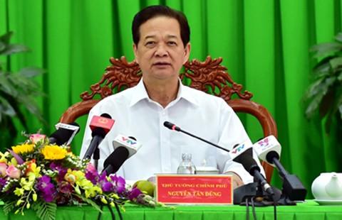 Thủ tướng: Khoanh nợ ngay cho dân bị thiệt hại do xâm nhập mặn