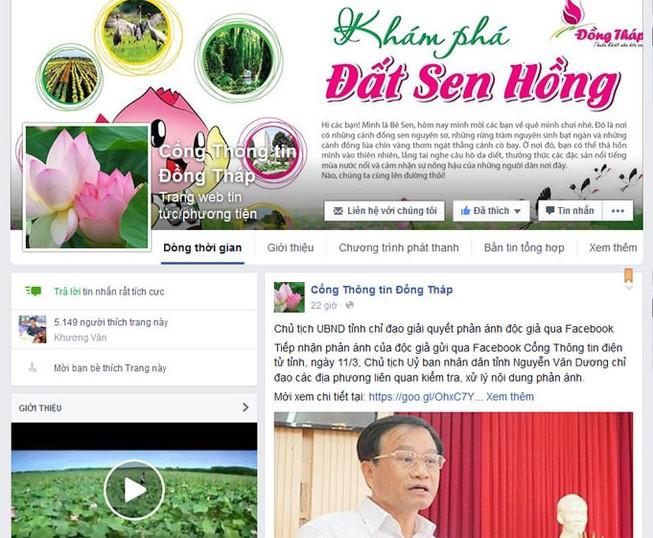 Đồng Tháp chỉ đạo trả lời phản ánh người dân qua Facebook