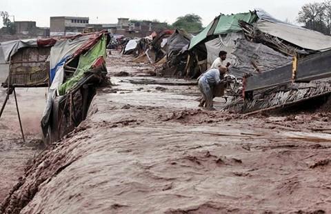 65 người chết do mưa lũ ở Pakistan