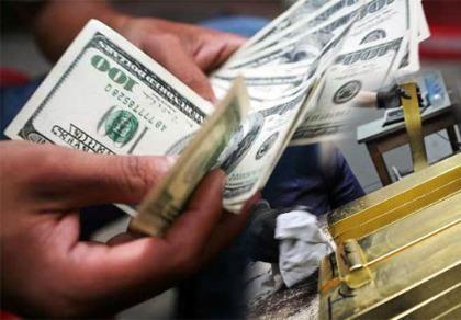 Giá vàng giảm, đôla ổn định