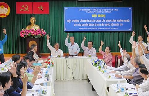 TP.HCM: Hai người tự ứng cử được chọn ứng viên đại biểu Quốc hội
