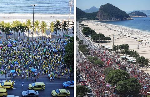 Biểu tình ủng hộ và phản đối tổng thống Brazil