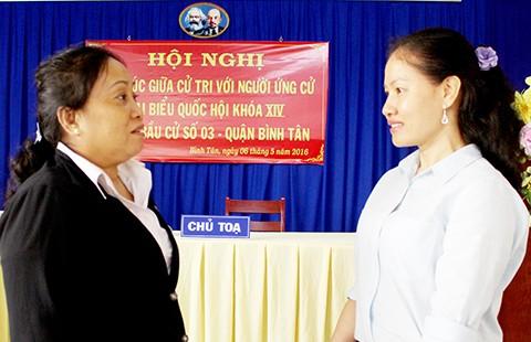 Bà Phan Thị Bình Thuận: Sẽ góp sức để hết tình trạng trễ hẹn hồ sơ với dân