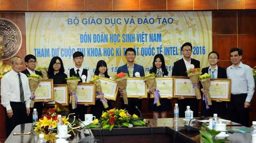 Việt Nam đạt bốn giải ba tại Hội thi khoa học kỹ thuật quốc tế 2016